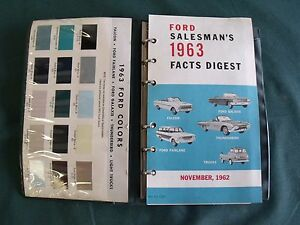 Near Nos 1963 Ford Salesman S Facts Digest Galaxie T Bird Truck 427 Fairlane