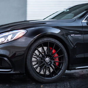 19 Hre Ff15 Flow Form Black Concave Wheels Rims Fits Mercedes W204 C63 Amg