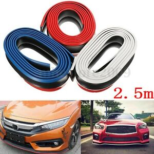 2 5m Car Pu Front Bumper Lip Splitter Chin Spoiler Body Protector Trim 8 Feet