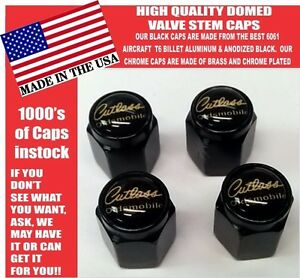 Oldsmobile Cutlass Supreme 442 Olds Billet Black Valve Stem Caps Very Nice