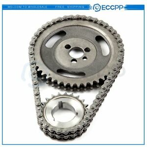 Sbc Hd Double Row Timing Chain Kit Fits Chevy 267 283 327 350 383 400 3 Keyway