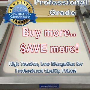 20 X 24 325 Yellow Hi Tension Mesh Professional Aluminum Screen Printing Frame