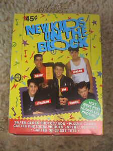 Vintage 1989 O-Pee-Chee OPC New Kids On The Block Wax Box UNOPENED 36 Packs $23.96