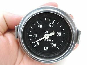 Vintage Stewart Warner Oil Pressure Gauge 1969 Hot Rod Rat Rod Gasser