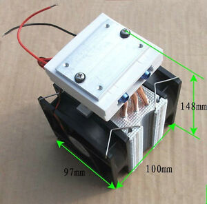 Thermoelectric Peltier Refrigeration Water Cooling System Cooler Fan Tec1 12715
