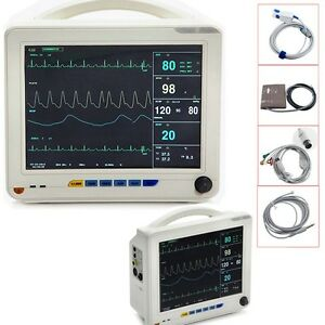 Patient Monitor Multi parameter Vital Sign Ecg Nibp Resp Temp Spo2 Pr 12 1 Usa