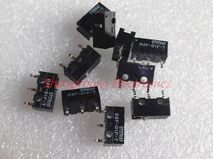 50pcs D2f 01f t 0 74n Omron Mouse Micro Switch Mice Button