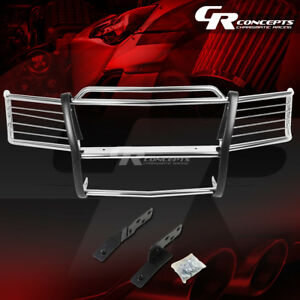 Chrome Stainless Bumper Grille grill Guard For 99 02 Chevy Silverado 1500 2500