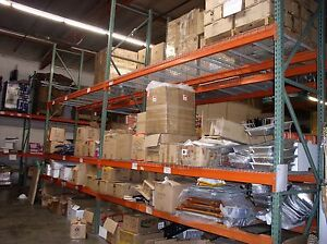 Warehouse Rack Package 17 X 42 Upright 5 Beams Wired Deck