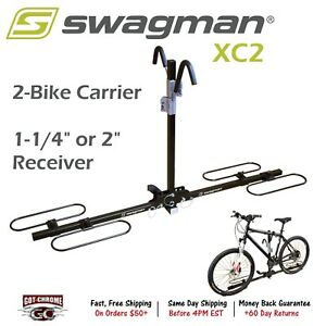 64650 Swagman Xc2 Platform Hitch Rack 2 Bike Carrier 1 1 4 And 2 Receiver