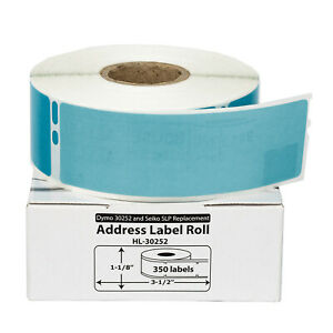 50 Rolls Of 350 Blue Address Labels For Dymo Labelwriters 30252