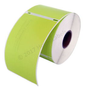 2 Rolls Of 300 Green Shipping Labels For Dymo Labelwriters 30256