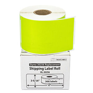25 Rolls Of 300 Green Shipping Labels For Dymo Labelwriters 30256