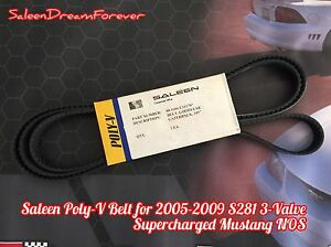 2005 09 Saleen S281 3 Valve Sc Supercharged Mustang Poly V Belt Nos S281sc Ford