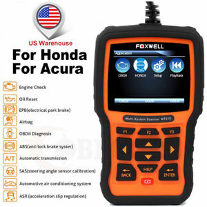 For Honda Acura Diagnostic Scan Tool Engine Reset Foxwell Nt510 Obd2 Code Reader