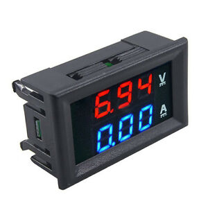 Dual Led Dc Digital Display Ammeter Voltmeter Lcd Panel Amp Volt Meter 10a 100v