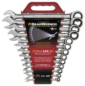 Gearwrench 9312 kd Tools 13 piece Sae Master Ratcheting Wrench Set