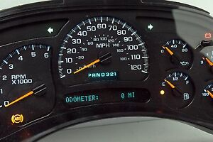 Light Blue Led 05 Chevy Silverado Sierra Reman Instrument Panel Cluster 50 Back