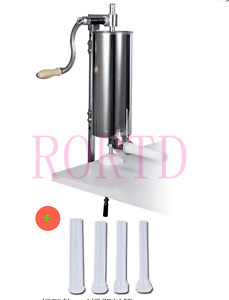 New 4l Sausage Stuffer Sausage Filler Stainless Steel With 4x Tubes