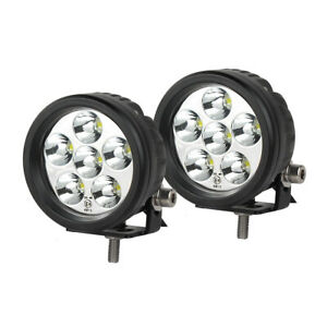 2pcs 3 5 18w Round Led Work Light Spot Beam Driving Fog Lamp Offroad Motor Atv