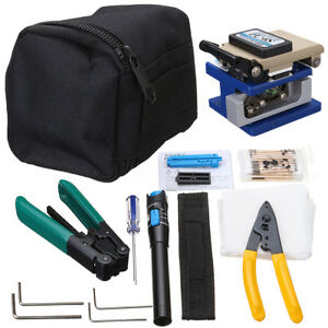 11 In 1 Fiber Optic Ftth Tool Kit With Visual Finder Fc 6s Fiber Cleaver Tester