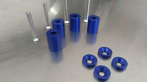 1 Inch Blue Hood Riser Spacer Honda Civic Integra S2000 Rsx Fit Jazz Accord Crx