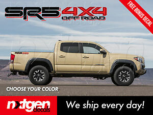 2x Sr5 4x4 Toyota Tacoma Tundra Truck Bed Side Vinyl Decals Stickers