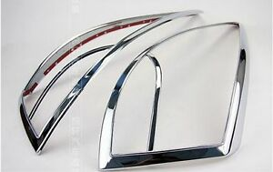 Abs Chrome Rear Tail Light Lamp Cover Trim For Hyundai 2010 2012 Tucson Ix35