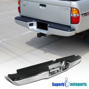 Fit 1995 2004 Toyota Tacoma Chrome Black Step Rear Bumper 67 l X 5 5 w X 9 h