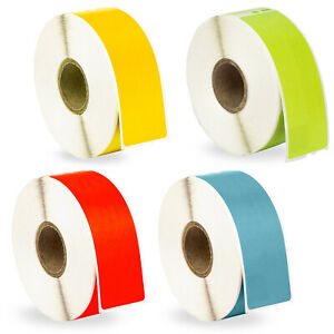 48 Rolls 12 Rolls Of Red Yellow Green And Blue Address Labels For Dymo 30252