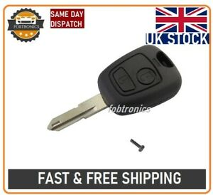 New 2 Button Remote Key Fob Case For Peugeot 106 107 206 207 307 Logo A57