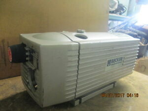 Becker Vaccum Pump Vt 410 Sold As described as available_marked Down_must Go