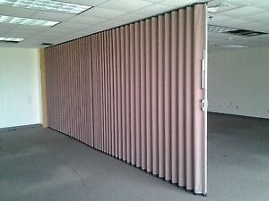 Modernfold Accordion Wall Partition Sliding Retractable Room Divider