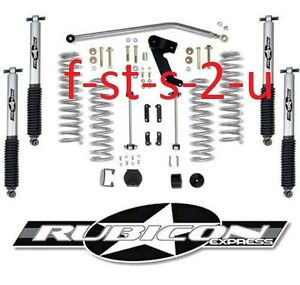 Rubicon Express 3 5 Lift Kit W Mono Tube Shocks 07 17 Jeep Wrangler Unlimited