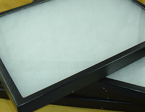 Two Jewelry Display Cases Riker Mount Collectors Frame Box Shows 12 X 16 7 8 New