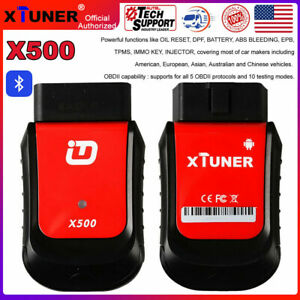 Xtuner X500 Bluetooth Obd2 Diagnostic Tool Abs Epb Tpms Dpf Oil Rest For Android