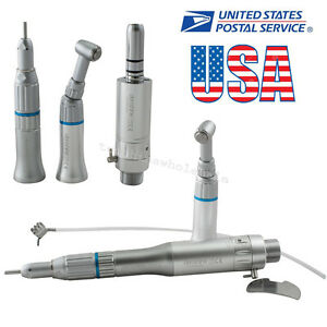 Fit Nsk Dental Low Speed Handpiece Kit Push Button Contra Angle Air Motor 2 Hole