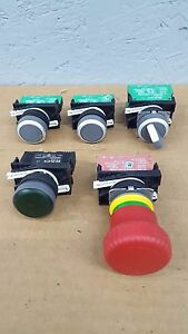 Lot Of 5 Rafi Switchs Pushbuttons Emergency Stop 1 20 124