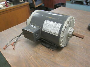 Emerson Ac Motor P63sydsb 3428 1hp 1140rpm 208 230 460v 4 0 2 0a Used