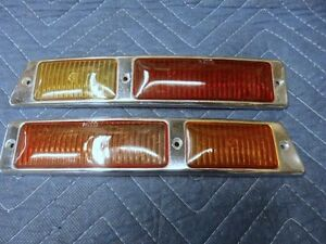 Mercedes 300sl Gullwing 198 Genuine Tail Light Covers Pair L