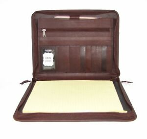 Real Leather Brown Presentation A4 Folder Portfolio H0100 1 Personalise Option
