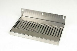 Stainless Steel 10x6 Drip Tray With Backsplash For 4