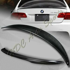 For 2007 2013 Bmw E92 2 dr M3 Style Real Carbon Fiber Rear Trunk Spoiler Wing