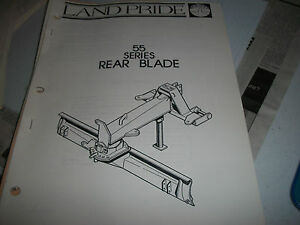 Land Pride Owner s Parts Manual 55 Series Rear Blade