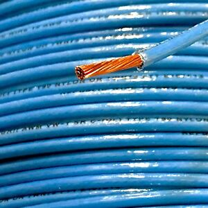 50 Thhn 10 Awg Gauge Blue Nylon Stranded Copper Building Wire