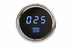 Led Digital Transmission Temperature Gauge Blue Leds W Chrome Bezel