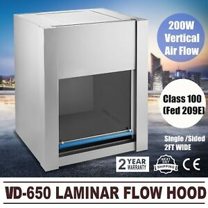 110v Pro Vd 650 Laminar Flow Hood Air Flow Clean Bench Workstation Usa