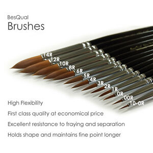 15 Piece Quality Porcelain Brush Set Dental Lab