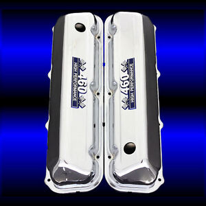 460 Chrome Valve Covers For Big Block Ford 460 Engines With 460 Emblems