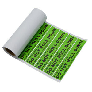 200 Pcs Decals Stickers Do Not Roll Down Warning Lables Window Tint Film Tool